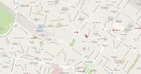 Mapa Consulado Cuba Milan Italia