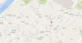 Mapa Consulado Cuba Roma Italia
